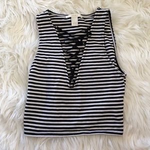 Striped Cropped Tank Forever 21
